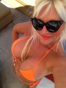 Linda Hogan - Orange Bikini (Twitter Photo)